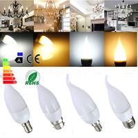 E14 E27 B22 B15 Bombilla Vela Flame luz 10 LED 2835 SMD 3W Bulb Chandelier 220V