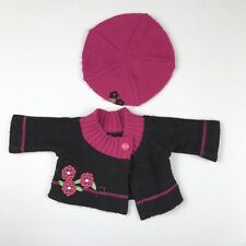 American Girl Doll Bitty Baby Brown Sweater And Hat Set