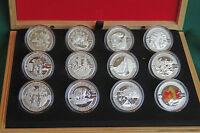 2013 Canada O Canada boxed set of 12 pure silver commemorative coins