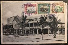 1923 Beira Portuguese Mozambique RPPC Postcard cover to Crafton USA Hospital