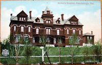 1910 Postcard: Nicholl's Hospital - Peterborough, Ontario, Canada