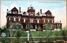 1910 Postcard: Nicholl's Hospital - Peterborough, Ontario, Canada