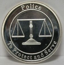 Police To Protect and Serve .999 Silver Medal Round - Cops Cop 1 oz troy - JX367
