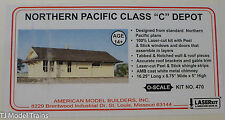 American Model Builders #470 Northern Pacific Class C Depot (Laser-Cut Wood Kit)