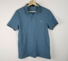 Fred Perry Polo Shirt Blue Size Small MOD Retro