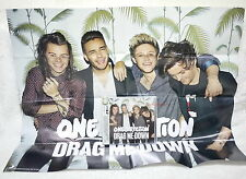 """One Direction Drag Me Down 2015 Taiwan CD w/OBI +""""Folded"""" poster"""