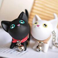 Cute Cat Kitten Keychain Keyring  Key Chain Rings For Women Handbag Decor 67UK