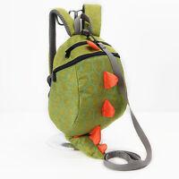 Baby Kids Cute Backpack Dinosaur Waterproof School Bag Casual Package Green