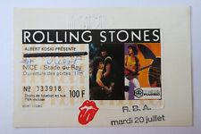 ROLLING STONES   used ticket billet    20 juillet 1982   Nice  FRANCE