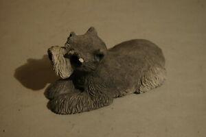 """Vintage Sandicast 9"""" Terrier Dog 1981 Sandra Brue Signed Schanuzer?"""