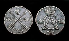 1/4 Skilling 1805 Suède/ Sweden. Gustaf Adolf IV°. Cuivre/ Copper. Superbe!