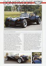 Prospekt D Donkervoort 1989 1 Blatt Autoprospekt Auto PKWs brochure car Auto