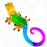 Gecko #4 art hand blown clear glass miniature figurine crystal dollhouse animal