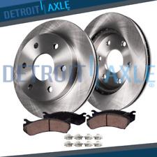 Front Disc Rotors + Brake Pads Chevy Express Silverado Gmc Sierra 1500 Brakes