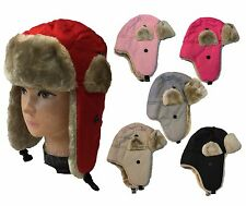 WHOLESALE LOT 12 PCS TODDLER FAUX FUR TROOPER WINTER AVIATOR Kid Cute HAT CAP