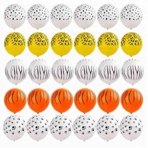 "12"" Safari Animal Print Latex Balloons Birthday Party Decorations Wild Decor"
