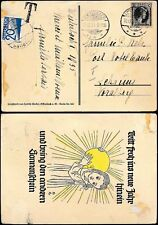 POSTAGE DUE AUSTRIA 1934 from LUXEMBOURG PPC SUN GIRL