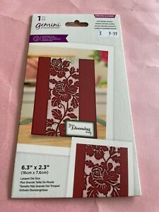 GEMINI CREATE-A-CARD ENTWINED ROSES CENTRE PIECE DIE.