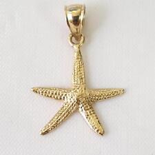 14k Yellow Gold STARFISH Pendant / Charm, Made in USA