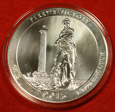 2013 ATB PERRY'S VICTORY DESIGN .999% 5 OZ SILVER ROUND BULLION COLLECTOR COIN