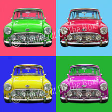 Mini Cooper Classic Andy Warhol Style Glossy 1 Piece Poster Art Print!
