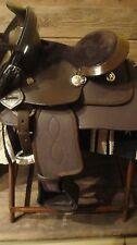 "Miniature Mini Horse & Donkey BROWN Leather/Kordura 8"" Western Saddle PACKAGE"