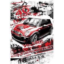 MINI COOPER - RALLYE MONTE CARLO POSTER 24x36 RACE CAR 1523