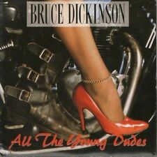 """BRUCE DICKINSON all the young dudes 7"""" PS EX/EX uk emi"""