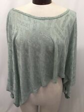 Arden B. Women's Poncho Wrap Crop Lurex Mint Green Stretch Size Small New!