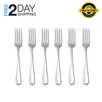 Oneida Flight Dinner & Salad Forks, Stainless Steel. Durable Set of 4 or 6
