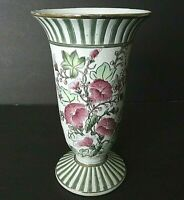 VINTAGE TOYO PORCELAIN HAND PAINTED FLORAL MORNING GLORY VASE, Jenna Hall