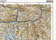 Zell am See Bischofshofen 1939 orig. Teil-Karte Bad Gastein Saalfelden Pongau