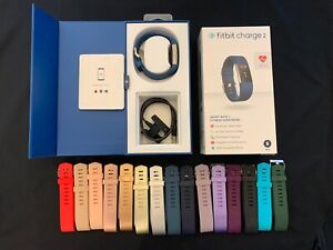 Fitbit Charge 2  Fitness Wristband Small - Blue With 15 Generic Wristbands
