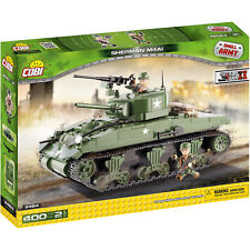 Cobi Sherman M4A1 Army Tank 400 Pieces Set and Two Action Figures Toys for Kids