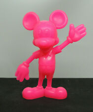 Hot Pink Mickey Mouse Plastic 1971 Disney Figurine over 5 inches tall (13979)