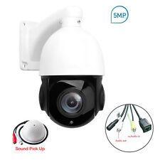 PTZ IP Camera 5mp Super HD 2592x1944 Pan Tilt 30x Zoom Speed Dome Camera Audio
