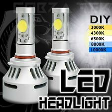 2x Cobra Tek Universal 9005 White LED 12v High Low Beam Headlights Lamps Bulbs