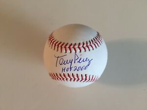 Tony Perez Autographed OML Baseball W/ HOF 2000 - W / Glass Display Case -JSA