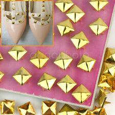 100X rivets clous Stud dorés Punk Rock pyramide customisation DIY Sac Chaussure