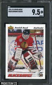 1991-92 Upper Deck #335 Dominik Hasek Chicago Blackhawks SGC 9.5 MINT+