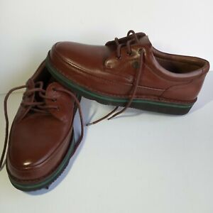 HUSH PUPPIES The Body Shoe Mall Walker Brown Leather Oxfords Mens Size 11.5 5E