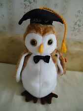 "TY Beanie Babies ""WISEST"" Plush Graduation Owl w/ Cap. Class of 2000. 6.5"" NEW"