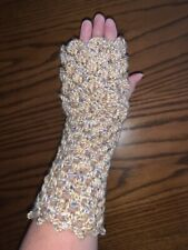Crochet Crocodile Dragon Fingerless Gloves