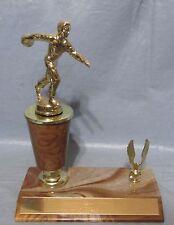 Vintage 1968-69 Diecast Mens Bowling Trophy Tan Trim Sport Bar Game Room Decor