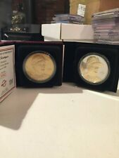 ALEX RODRIGUEZ Elite series coin set, 2-tone silver & gold and bronze coin by Hi