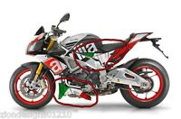 Aprilia Tuono V4 1100 Factory  Italian flag side & belly pan graphics decals set