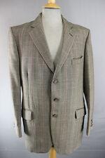 CLASSIC VINTAGE JOHN g.hardy British Made Pura Lana Tweed CHECKED Giacca 42 pollici