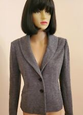 Ann Taylor Gray Fitted Wool Blend Knit Blazer size 6