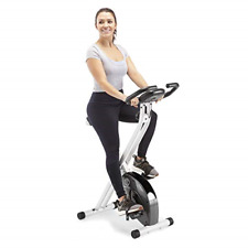 Marcy Foldable Exercise Bike with Adjustable Resistance for Cardio Workout and