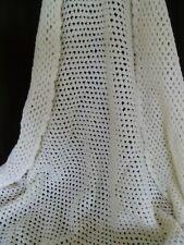 White Hand Crochet Baby Blanket